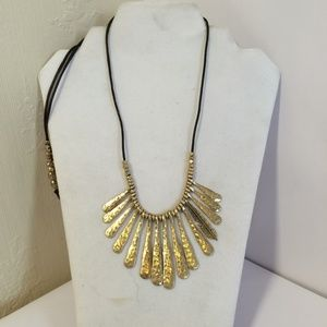 Lucky Brand Gold tone Statement Necklace